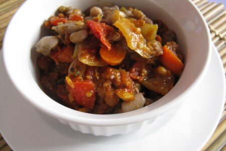 "13-Bean, ""Fart-Free"" Vegetarian Chili"