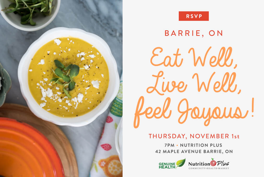 Eat Well Live Well Feel Joyous Nutrition Plus Barrie On Joyous Health Events