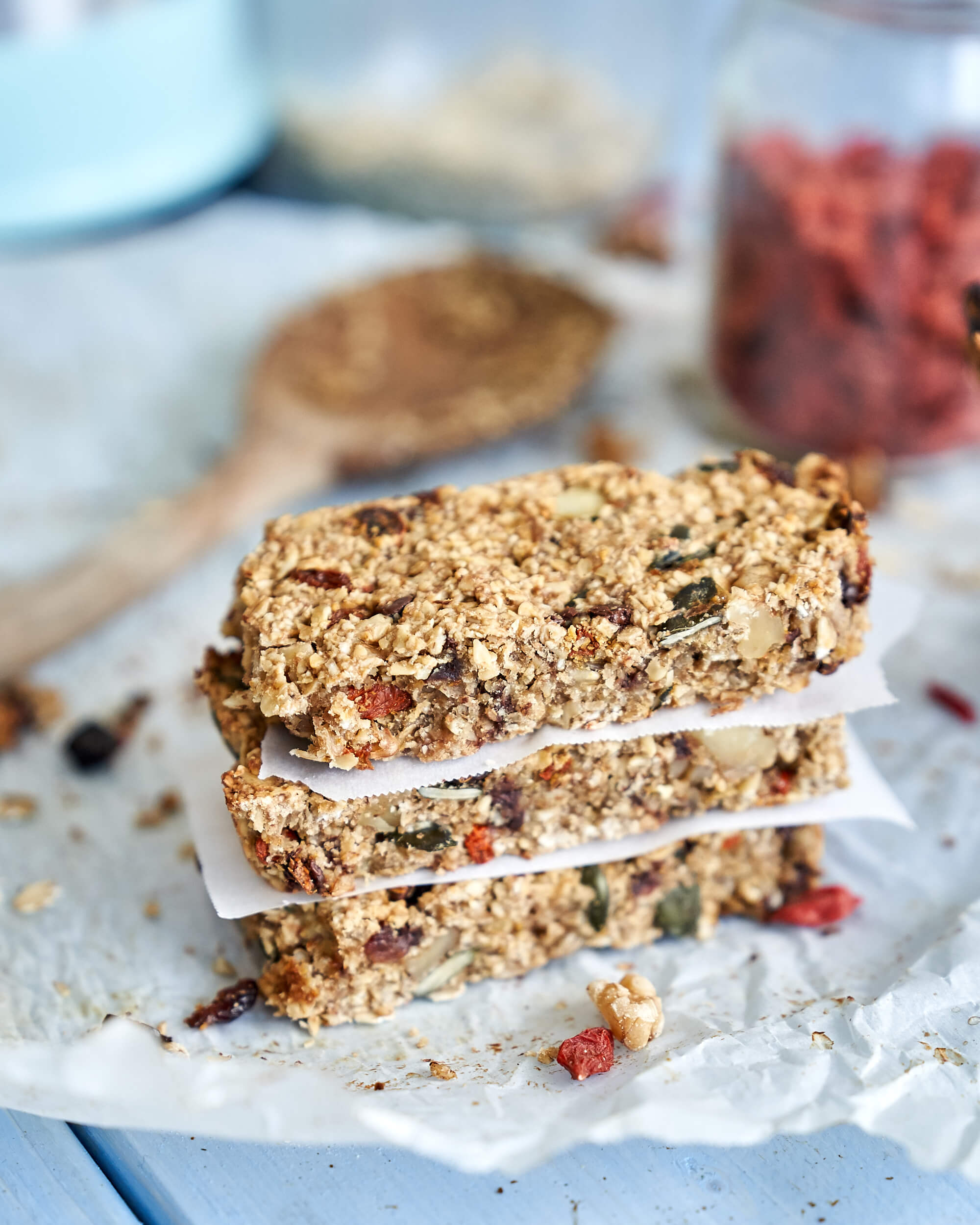 Superfood Granola Bars stacked