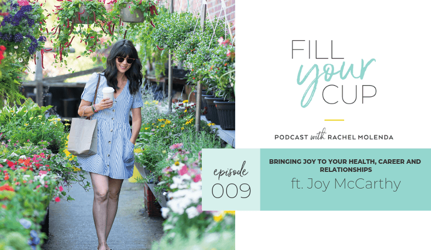Fill your cup podcast with Joy McCarthy walking through garden