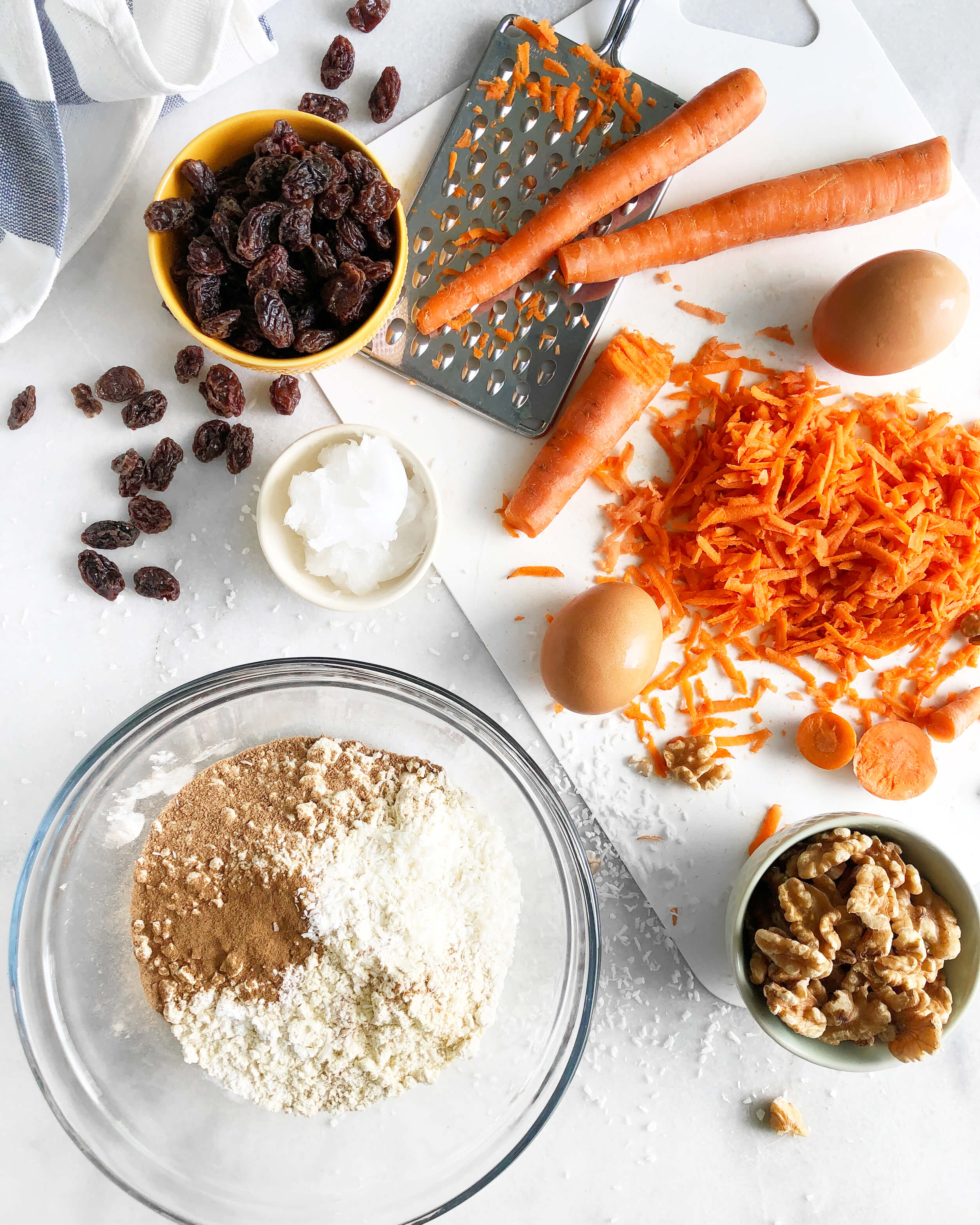 Ingredients in Carrot Cake Loaf