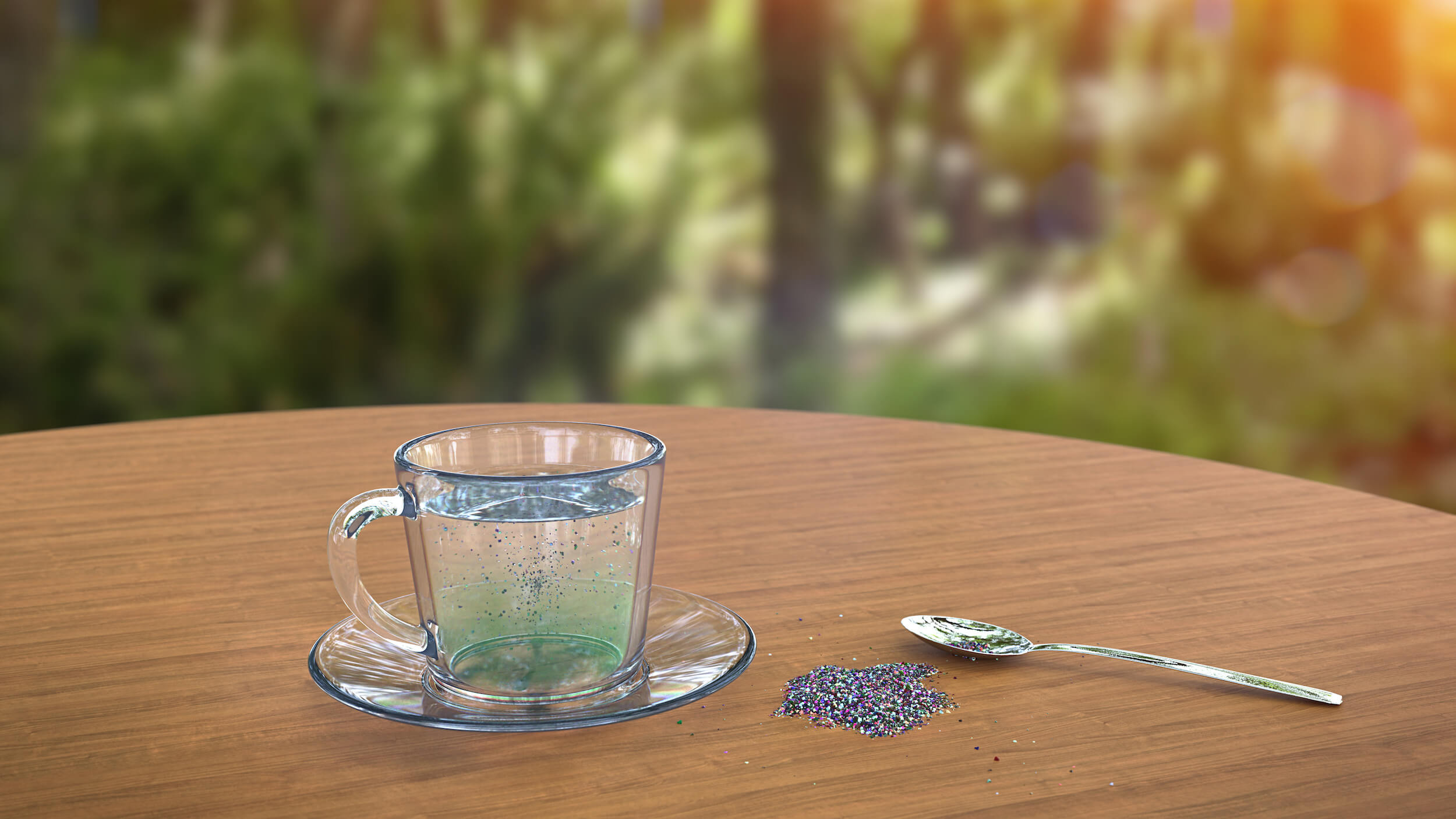 Microplastics in a cup of tea.