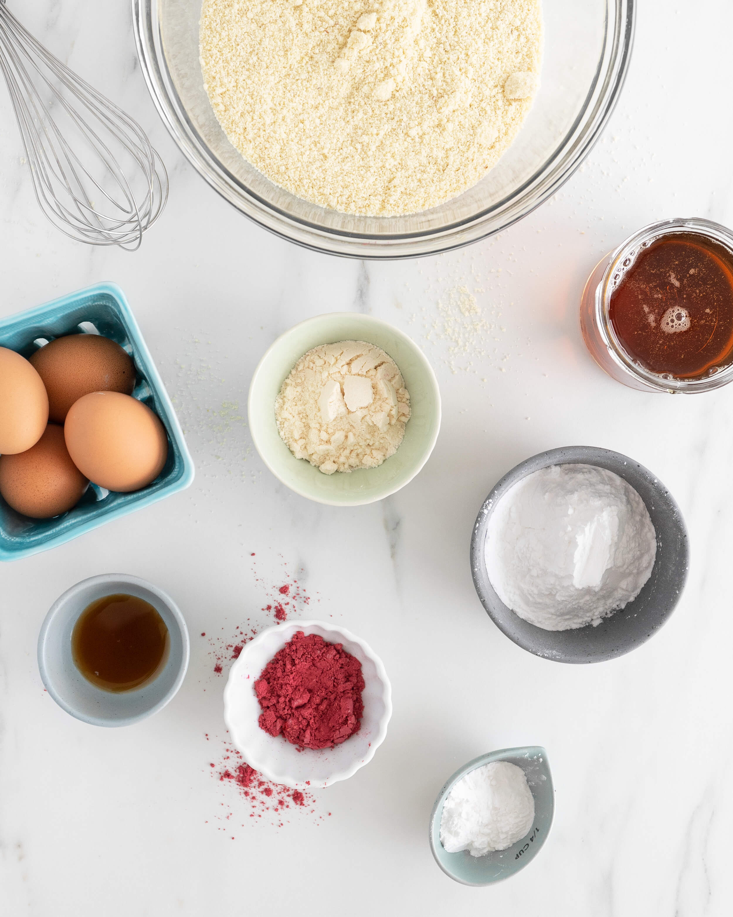 Ingredients in almond flour cake