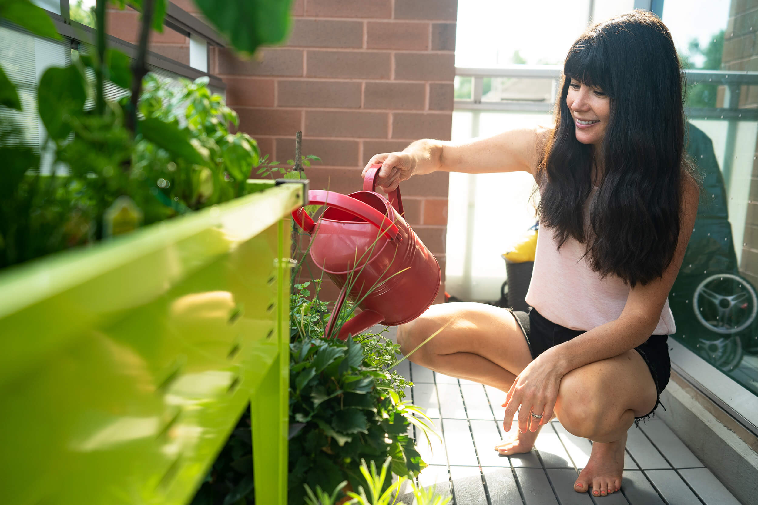 Joy Watering Plants